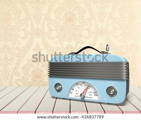 Radio. - stock photo
