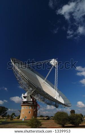 Radio Antenna Dish Near Parkes, NSW, Australia - stock photo