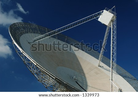 Radio Antenna Dish Near Parkes, NSW, Australia. Close-up.