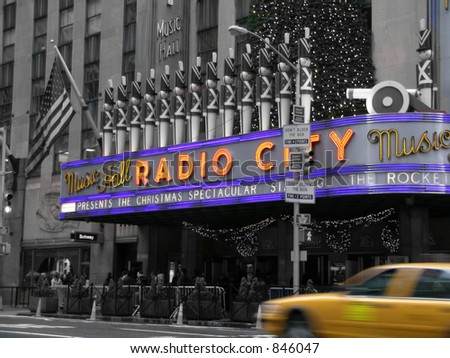 radio city music hall - stock photo