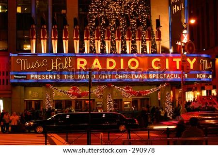 Radio City Music Hall in New York City - stock photo