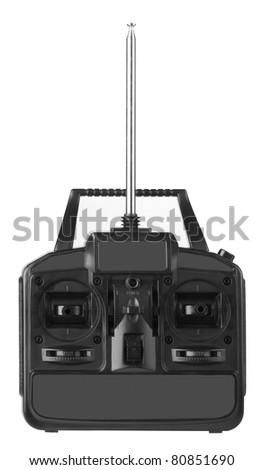 Radio control isolated on white background - stock photo