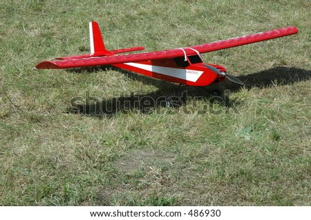 radio controled airplane hobby model