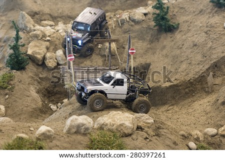Radio controlled off-road car model - stock photo