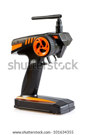 Radio controlled (RC) transmitter for model cars - stock photo