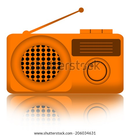 Radio isolated over white background - stock photo