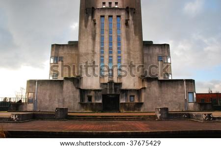 """Radio Kootwijk building in National Park """"De Hoge Veluwe"""" - stock photo"""