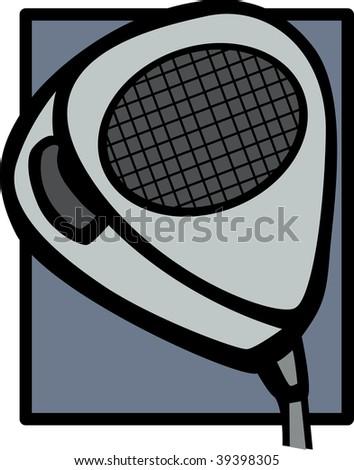 radio microphone - stock photo