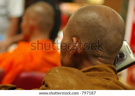 Radio Monk - stock photo