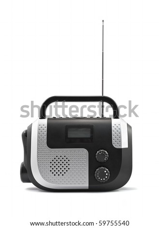 Radio receiver isolated - stock photo