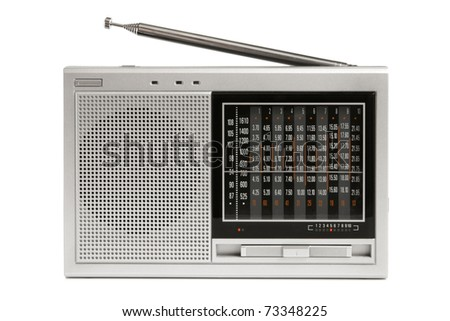 Radio receiver on a white background - stock photo
