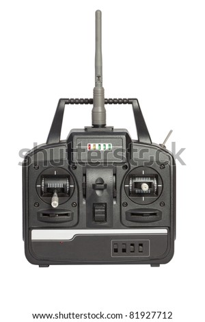 radio remote control isolated - stock photo