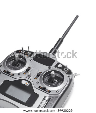 Radio remote control isolated on white background - stock photo