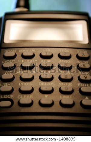 Radio scanner. - stock photo