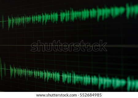 Radio sound wave,music wave