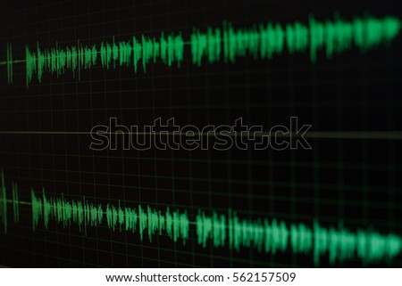 Radio sound wave,music wave blur