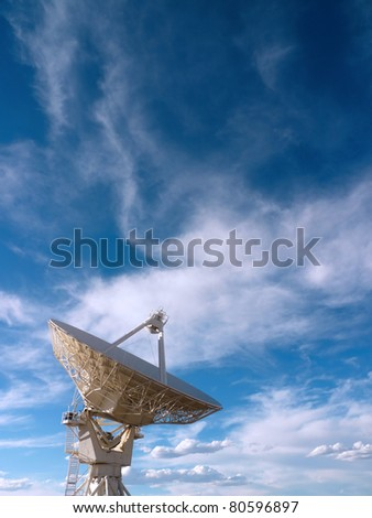 Radio telescope at the Very Large Array (VLA) in New Mexico, USA - stock photo