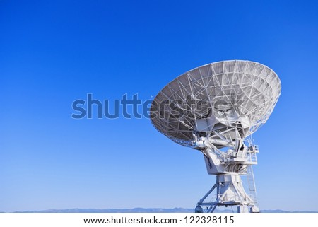 Radio Telescope in Blue Sky