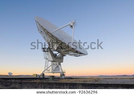 Radio Telescope in New Mexico USA - stock photo