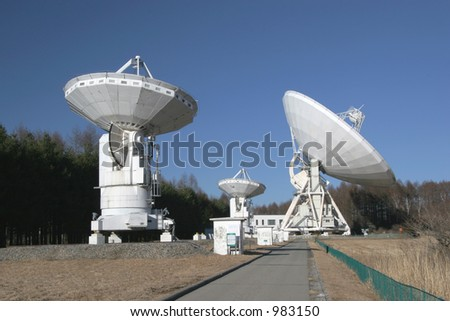 Radio-telescopes - stock photo
