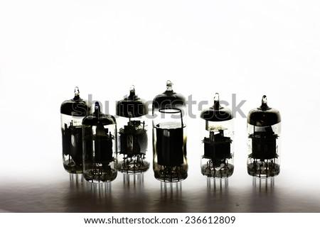 radio tubes - stock photo