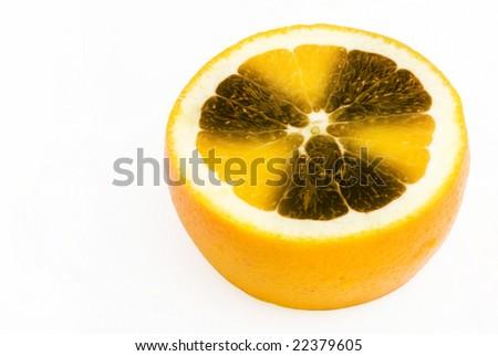 radioactive orange - stock photo