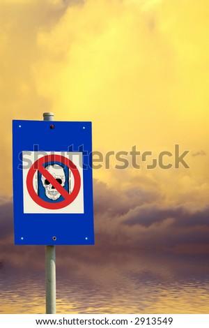 radioactive sign - stock photo