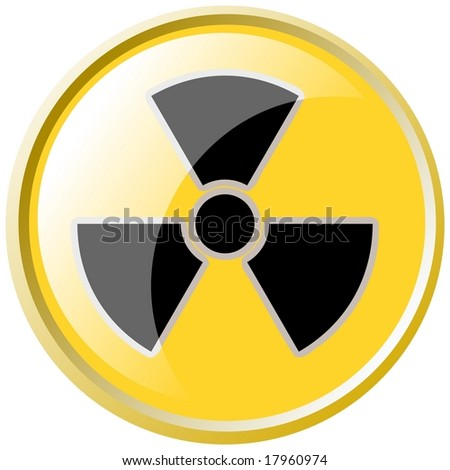 radioactive sign circle - stock photo