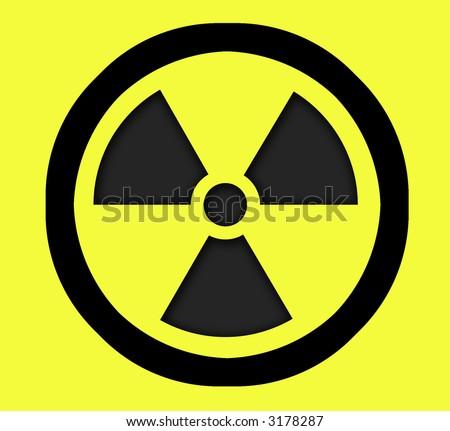 radioactive sign  - symbol of radiation - stock photo