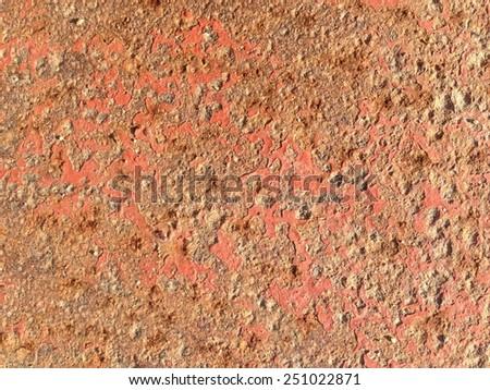 Radioactive Surface-Rusted Metallic Texture - stock photo
