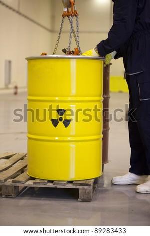 Radioactive waste - stock photo