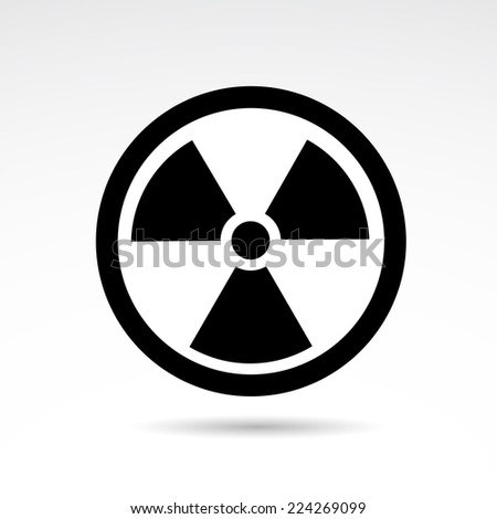 Radioactivity icon isolated on white background. - stock photo