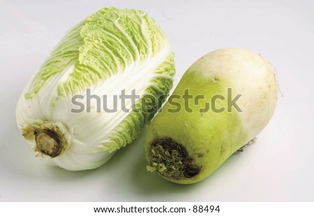 Radish and cabbage