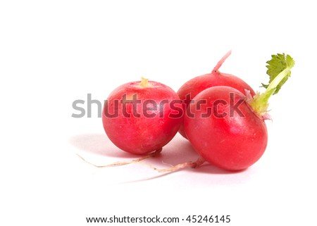radish isolated on white background