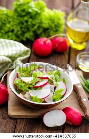 radish salad - stock photo