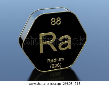 Radium - stock photo