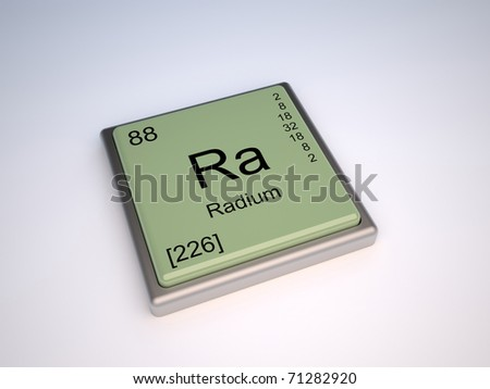 Radium chemical element of the periodic table with symbol Ra - IUPAC - stock photo