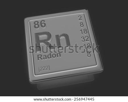 Radon. Chemical element. 3d - stock photo