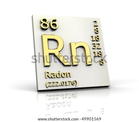 Radon form Periodic Table of Elements - stock photo