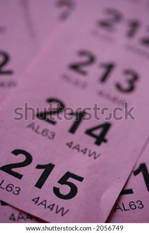 raffle tickets - stock photo