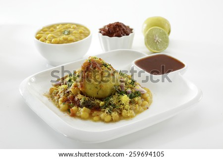 Ragda Pattice, Chat food, India - stock photo