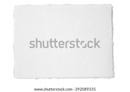 Ragged White Paper - stock photo