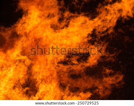 Raging fire, flames background. - stock photo