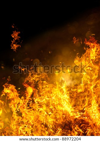 Raging Hot Fire - stock photo