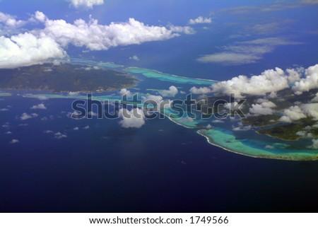 Raiatea and Tahaa island, French Polynesia - stock photo