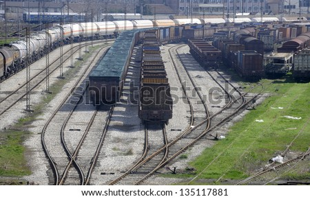 rail cargo - stock photo