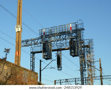 Rail infrastructure in Poland - stock photo