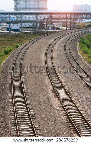 Rail Road Tracks - stock photo