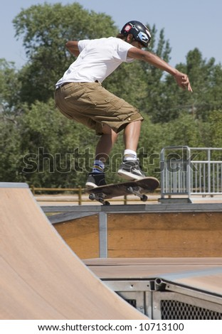 Rail Skateboarding - stock photo