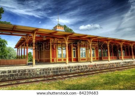 Rail station - stock photo